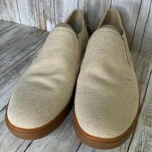 UGG Tobin Man's Canvas Casual Loafers Sand Shoes